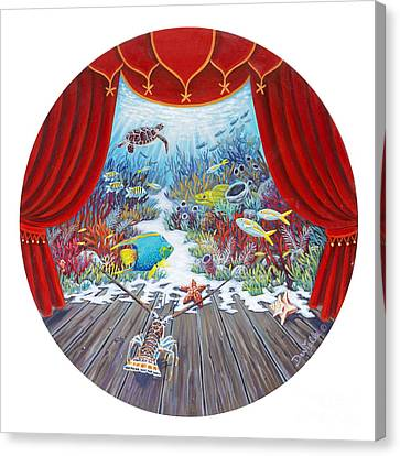 Theater Of The Sea Canvas Print by Danielle  Perry