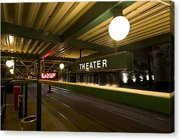 Theater Station Canvas Print by Mark Baker