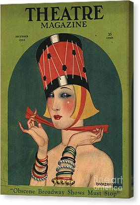 Magazine Canvas Print - Theatre 1923 1920s Usa Magazines Art by The Advertising Archives