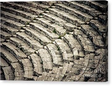 Theatre At Epidaurus Canvas Print by Gabriela Insuratelu