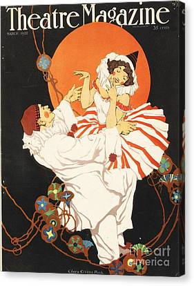 Theatre Magazine 1920s Usa Pierrot Canvas Print by The Advertising Archives
