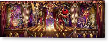 Theatre Of The Absurd Triptych  Canvas Print by Ciro Marchetti