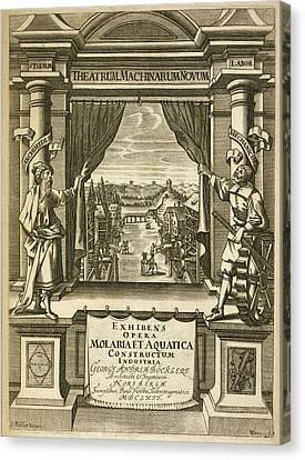 Theatrum Machinarum Novum Canvas Print by Rare Book Division/new York Public Library
