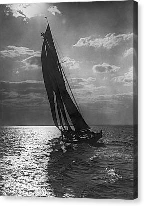 Thebaud Setting Out To Sea Canvas Print by Underwood Archives