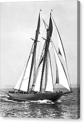 Thebaud Under Full Sail Canvas Print by Underwood Archives