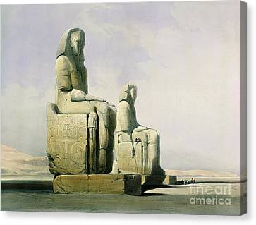 Statue Of David Canvas Print - Thebes by David Roberts