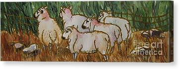 The_grass_is_greener Canvas Print by Nancy Newman
