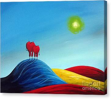 Their Happy Place By Shawna Erback Canvas Print by Shawna Erback