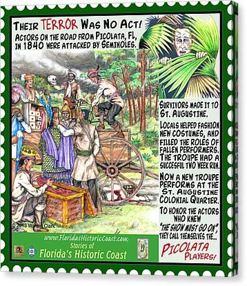 Canvas Print - Their Terror Was No Act by Warren Clark