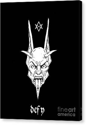 Horror Fantasy Movies Canvas Print - Thelemic Devil by Alaric Barca