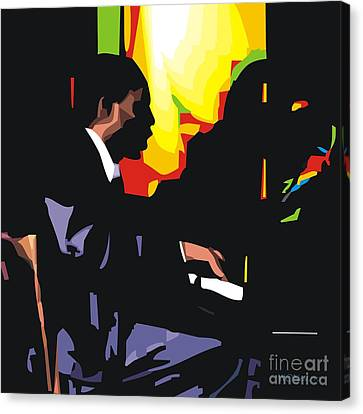 Thelonius Monk Canvas Print by Walter Oliver Neal