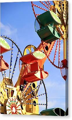 Theme Park Ride Canvas Print by Valentino Visentini