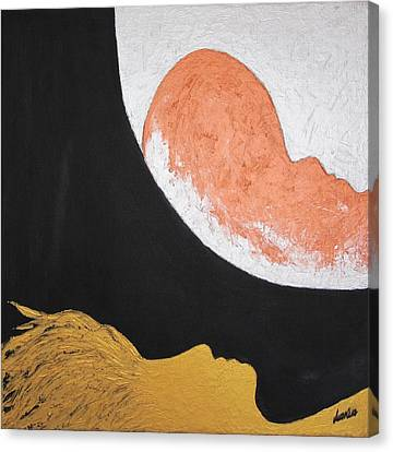 ..then The Moon Come To Kiss Good Bye... Canvas Print