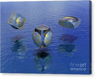 Then There Were Three - Surrealism Canvas Print by Sipo Liimatainen