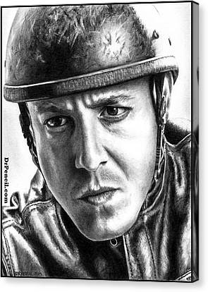 Theo Rossi As Juice Canvas Print by Rick Fortson