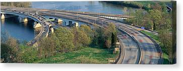 Theodore Roosevelt Bridge, Washington Canvas Print by Panoramic Images