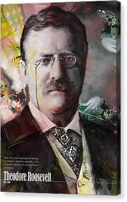 James Madison Canvas Print - Theodore Roosevelt by Corporate Art Task Force