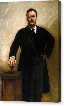 Theodore Roosevelt Canvas Print by John Singer Sargent