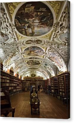 Library Canvas Print - Theological Hall Strahov Monastery by Joan Carroll