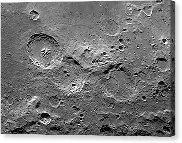 Theophilus Trio Of Lunar Craters Canvas Print