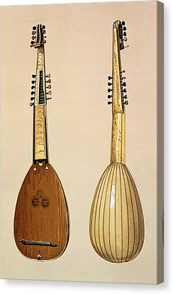 Lute Canvas Print - Theorbo, Made By Giovanni Krebar by Alfred James Hipkins