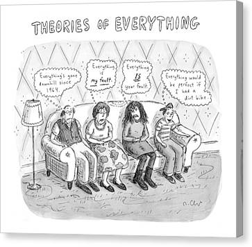 Theories Of Everything: 'everything's Gone Canvas Print