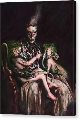 Theotokos The Usury Of God Canvas Print by Mandem