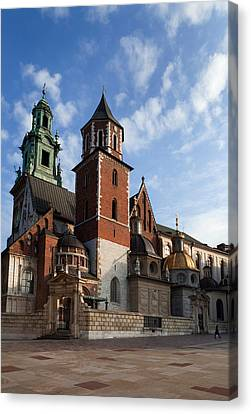 Ther Wawel Cathedral Tower And The Canvas Print by Panoramic Images