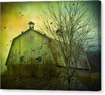 There Is Cawing Outside Canvas Print by Gothicrow Images