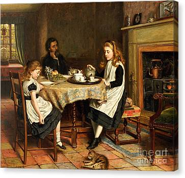 There Is No Fireside... Canvas Print by George Goodwin Kilburne