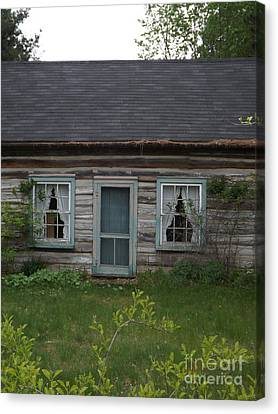 There Once Was A House With A Family Canvas Print