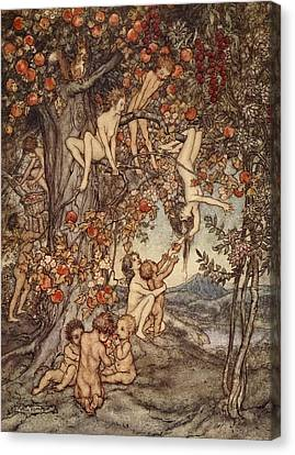 There Was No Danger, No Trouble Of Any Canvas Print by Arthur Rackham