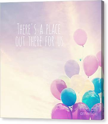 There's A Place Out There For Us Canvas Print by Sylvia Cook