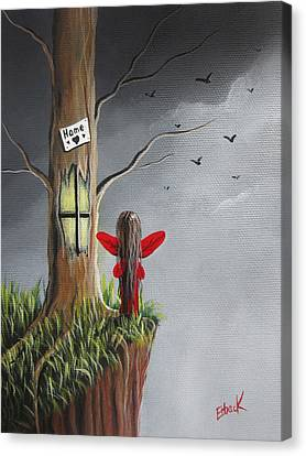Fairy Art Print - Original Fantasy Artwork Canvas Print by Shawna Erback