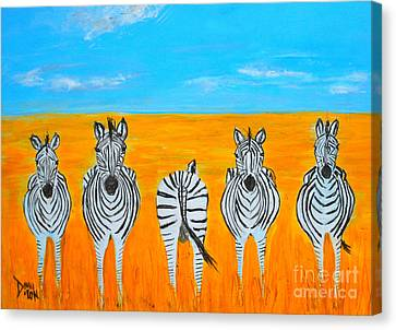 There's One In Every Crowd Canvas Print by Donna Dixon