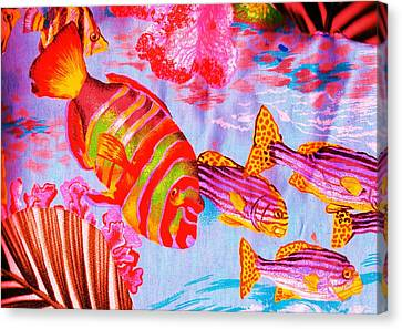 There's Something Fishy Goin' On   Canvas Print by Anne-Elizabeth Whiteway