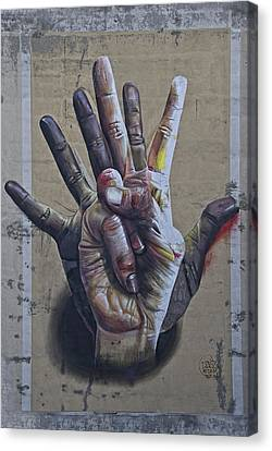 These Are The Hands . . . Canvas Print by Joachim G Pinkawa