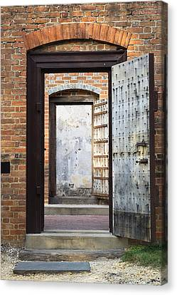These Doors Lead To Nowhere Canvas Print