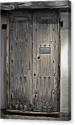 Medieval Entrance Canvas Print - These Doors Tell A Long Story by Christine Till