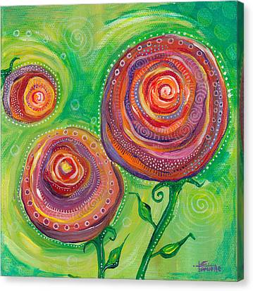 These Roses Are Forever Canvas Print by Tanielle Childers