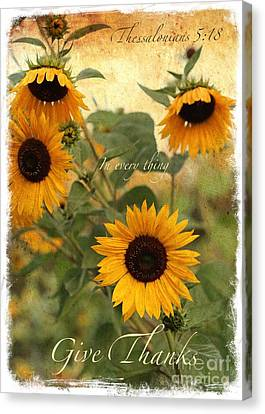 Give Thanks Canvas Print by Carol Groenen