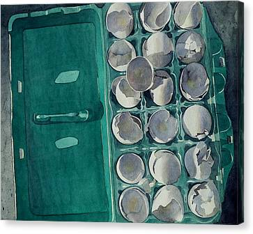 Canvas Print featuring the painting They Asked Me For Omelettes by Jeffrey S Perrine