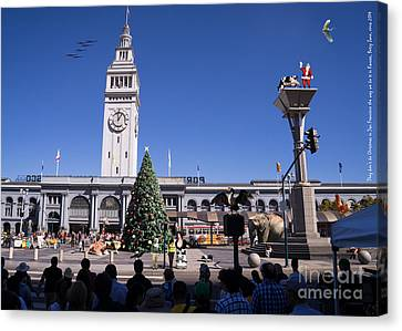 They Dont Do Christmas In San Francisco The Way We Do It In Kansas Betsy Jane Dsc1745 Canvas Print by Wingsdomain Art and Photography
