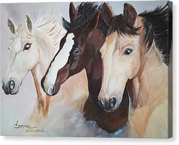 They Run Wild Canvas Print by Donna Steward