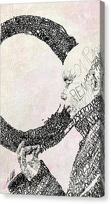 Thich Nhat Hanh Canvas Print by Michael Volpicelli