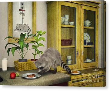 Thief Canvas Print by Jutta Maria Pusl