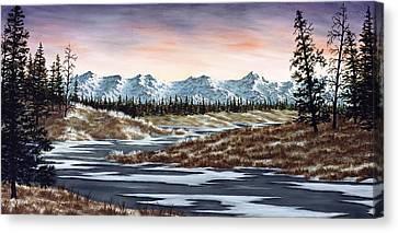 Snowscape Canvas Print - Thin Ice by Rick Bainbridge