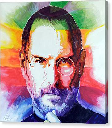 Ipod Canvas Print - Think Different by Steve Gamba