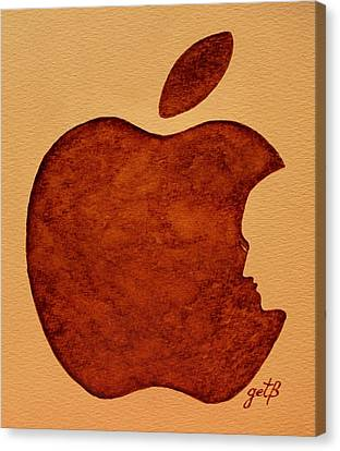 Think Different Steve Jobs 3 Canvas Print by Georgeta  Blanaru