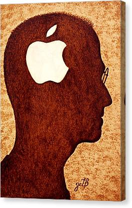 Think Different Tribute To Steve Jobs Canvas Print by Georgeta  Blanaru